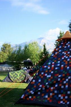 Spotty tent