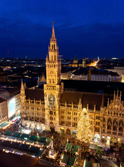 Aerial Image Of Munich at Christmas