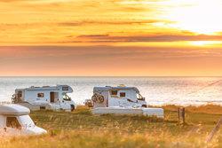Motorhomes on Nordic campsite