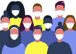 Group of people wearing face masks