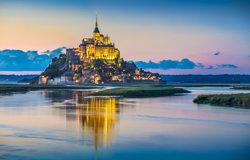 Mont St Michel at dusk
